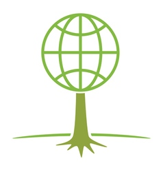 earth tree symbol vector image