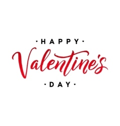 Happy Valentine s Day Hand Lettering vector image vector image