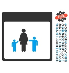 Mother Calendar Page Icon With Bonus vector image vector image