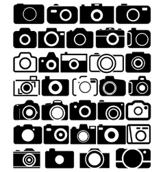 Camera icons vector image vector image