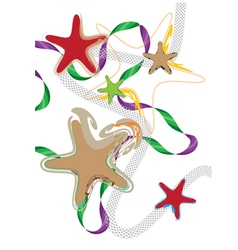 decorative starfishes vector image vector image