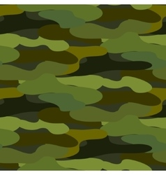 Khaki camouflage seamless pattern vector image