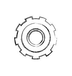 monochrome blurred silhouette of gear of wheel vector image vector image