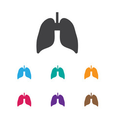 of health symbol on lung icon vector image