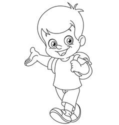 outlined schoolboy vector image vector image
