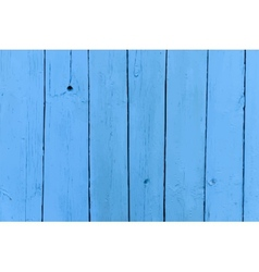 realistic old wooden painted blue background vector image