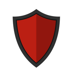 shield for war icon flat style vector image vector image