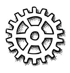 Cartoon image of gear icon flat vector