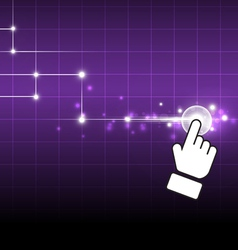 hand drag net button vector image vector image