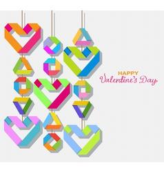 paper origami Valentine vector image vector image