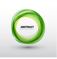 Abstract green circles vector