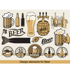 design for beer vector image vector image