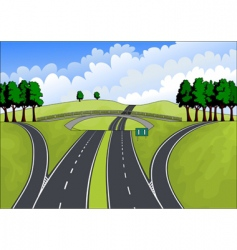 highway in the summer landscape vector image vector image