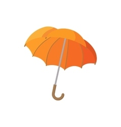 Open orange umbrella icon cartoon style vector image