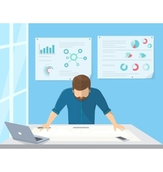 Professional architect or project manager is vector image vector image