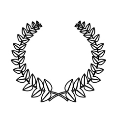 Wreath crown frame icon vector
