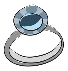 a diamond ring for romantic proposal or color vector image