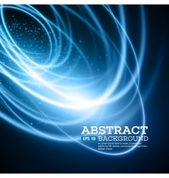 Abstract Blue Lights Effect Background vector