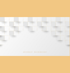 abstract white luxury stacked box background vector image
