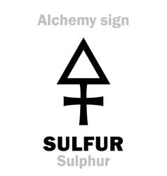 Alchemy sulfur sulphur vector