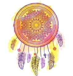 American Indian talisman dreamcatcher vector image