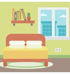 Background of bedroom vector image
