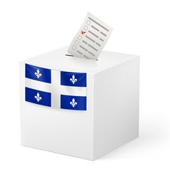 Ballot box with voting paper Quebec vector