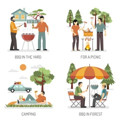 Barbecue 2x2 Design Concept vector image