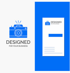 business logo for camera photography capture vector image