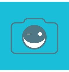 Camera smile vector