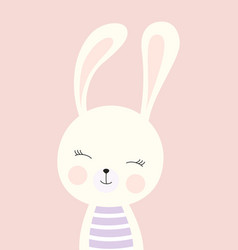 Card with cute bunny vector