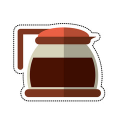 cartoon glass pot with coffee image vector image