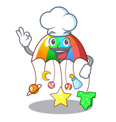 Chef cartoon hanging toys with baby carousel vector