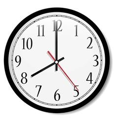 Classic wall clock vector image