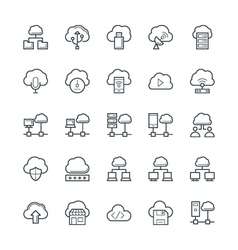 Cloud Computing Cool Icons 3 vector image