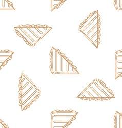 club sandwich outline seamless pattern vector image