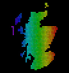 colorful abstract scotland map vector image