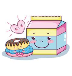 Cute kawaii cartoons vector