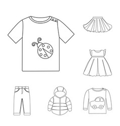 design of wear and child logo set of wear vector image