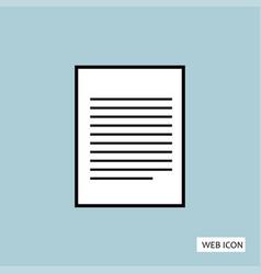 document icon document icon eps10 document icon vector image