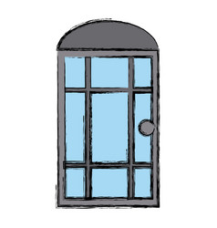 door window house isolated vector image