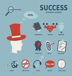 Elements success vector image