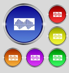 Equalizer icon sign Round symbol on bright vector