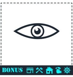 Eye icon flat vector