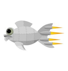 Fantastic metal fish vector image