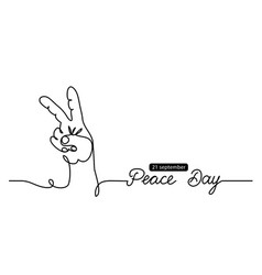 fingers in peace sign simple background vector image