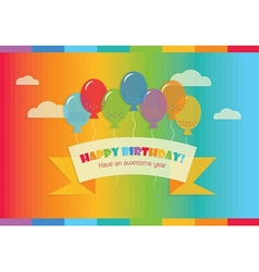 Floating happy birthday message vector