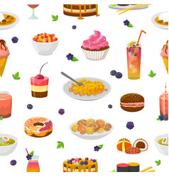 food bluish cake or cupcake with blueberry vector image