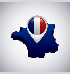 France map geography icon vector