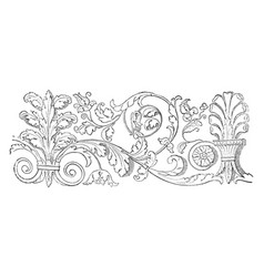 Friezes at venice is the wide central section vector